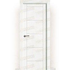 Puertas Baratas y Accesorios para puertas:  Puerta Block Maciza Lacada Blanca Mod. Guevara