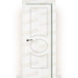 Puertas Lacadas Blancas:  Puerta Block Maciza Lacada Blanca Mod. Guinea