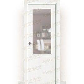 Puertas Lacadas Blancas:  Puerta Block Maciza Lacada Blanca Mod. Kenia ZV1