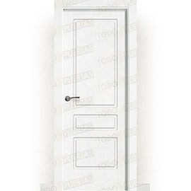 Puertas Lacadas Blancas:  Puerta Block Maciza Lacada Blanca Mod. Kyoto
