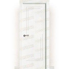 Puertas Lacadas Blancas:  Puerta Block Maciza Lacada Blanca Mod. laos