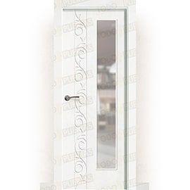 Puertas Baratas y Accesorios para puertas:  Puerta Block Maciza Lacada Blanca Mod. Lhasa V1L