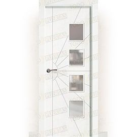 Puertas Baratas y Accesorios para puertas:  Puerta Block Maciza Lacada Blanca Mod. Liberia BV4L