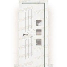 Puertas Baratas y Accesorios para puertas:  Puerta Block Maciza Lacada Blanca Mod. Lubango BV3L