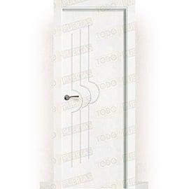 Puertas Baratas y Accesorios para puertas:  Puerta Block Maciza Lacada Blanca Mod. Lubango