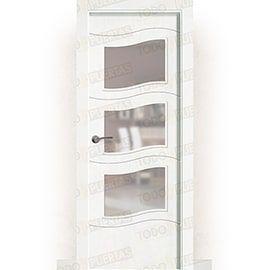 Puertas Lacadas Blancas:  Puerta Block Maciza Lacada Blanca Mod. Lyon bv3