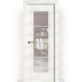 Puertas Lacadas Blancas:  Puerta Block Maciza Lacada Blanca Mod. Montecarlo V4