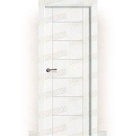 Puertas Lacadas Blancas:  Puerta Block Maciza Lacada Blanca Mod. Montecarlo