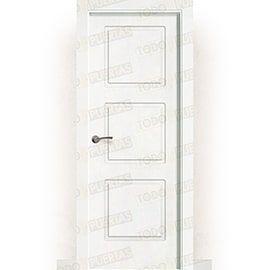 Puertas Lacadas Blancas:  Puerta Block Maciza Lacada Blanca Mod. Nauru