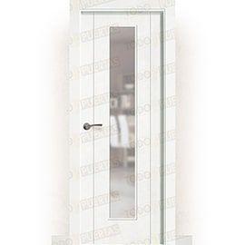 Puertas Lacadas Blancas:  Puerta Block Maciza Lacada Blanca Mod. Pekín V1C