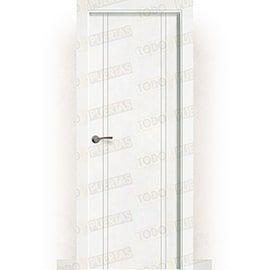 Puertas Baratas y Accesorios para puertas:  Puerta Block Maciza Lacada Blanca Mod. Portonovo