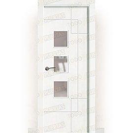 Puertas Lacadas Blancas:  Puerta Block Maciza Lacada Blanca Mod. Praia BZV3L