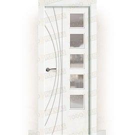 Puertas de Interior de Madera:  Puerta Block Maciza Lacada Blanca Mod. Raipur BV5L