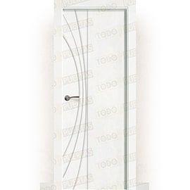 Puertas Lacadas Blancas:  Puerta Block Maciza Lacada Blanca Mod. Raipur
