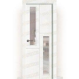 Puertas Baratas y Accesorios para puertas:  Puerta Block Maciza Lacada Blanca Mod. Ruanda V2