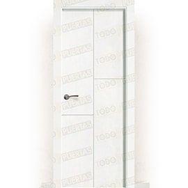 Puertas Lacadas Blancas:  Puerta Block Maciza Lacada Blanca Mod. Ruanda