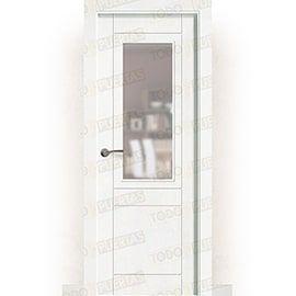 Puertas Lacadas Blancas:  Puerta Block Maciza Lacada Blanca Mod. Songo ZV1