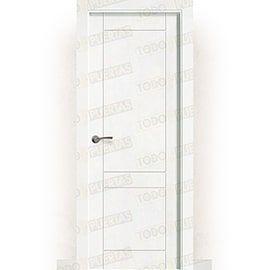 Puertas Lacadas Blancas:  Puerta Block Maciza Lacada Blanca Mod. Songo