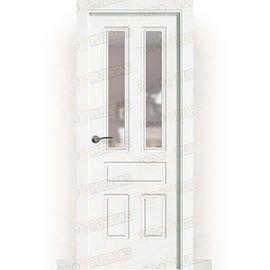 Puertas Lacadas Blancas:  Puerta Block Maciza Lacada Blanca Mod. Suva V2