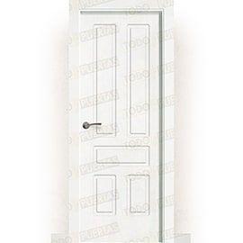 Puertas Lacadas Blancas:  Puerta Block Maciza Lacada Blanca Mod. Suva