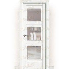 Puertas Lacadas Blancas:  Puerta Block Maciza Lacada Blanca Mod. Tailandia BV3