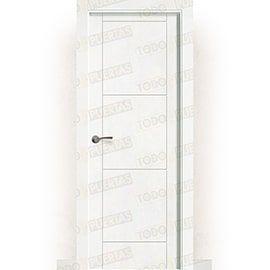 Puertas Baratas y Accesorios para puertas:  Puerta Block Maciza Lacada Blanca Mod. Tailandia