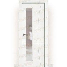 Puertas Lacadas Blancas:  Puerta Block Maciza Lacada Blanca Mod. Torra V1L