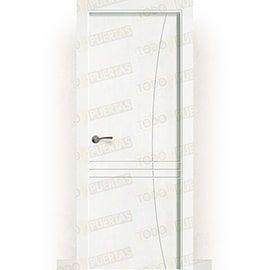 Puertas Lacadas Blancas:  Puerta Block Maciza Lacada Blanca Mod. Torra