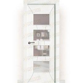 Puertas Lacadas Blancas:  Puerta Block Maciza Lacada Blanca Mod. Yaundé BV4C
