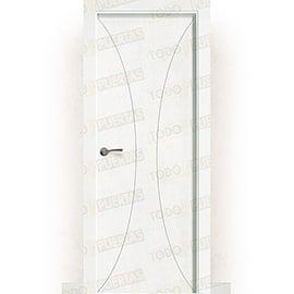 Puertas Lacadas Blancas:  Puerta Block Maciza Lacada Blanca Mod. Yaundé