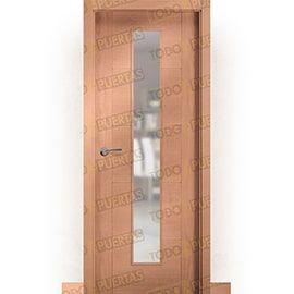 Puertas de Interior de Madera:  Puerta Block de Alta Calidad Mod. Danubio Haya vapor V1C