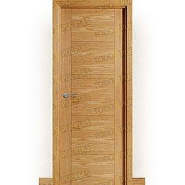 Puertas Lisas Modernas de Interior:  Puerta Block de Alta Calidad Mod. Danubio Roble