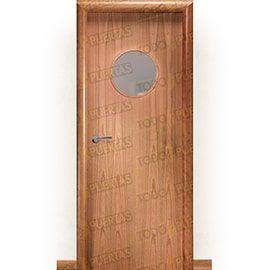 Puertas Baratas y Accesorios para puertas:  Puerta Block de Alta Calidad Mod. Islandia Cerezo ojo de buey