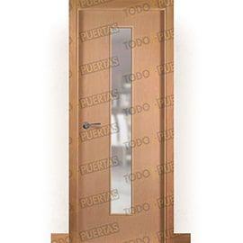 Puertas Lisas Modernas de Interior:  Puerta Block de Alta Calidad Mod. Islandia Haya V1C