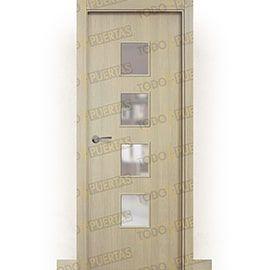 Puertas de Interior de Madera:  Puerta Block de Alta Calidad Mod. Islandia roble tierra bv4c