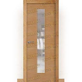 Puertas de Interior de Madera:  Puerta Block de Alta Calidad Mod. Montana Haya V1C