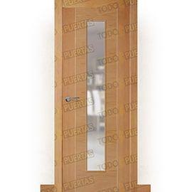Puertas de Interior de Madera:  Puerta Block de Alta Calidad Mod. Oporto Grecado Bl haya vaporizada v1c