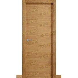 Puertas Lisas Modernas de Interior:  Puerta Block de Alta Calidad Mod. Palermo Roble
