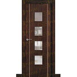 Puertas de Interior de Madera:  Puerta Block de Alta Calidad Mod. Suecia G2B ebano bv4c