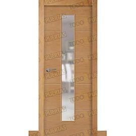 Puertas de Interior de Madera:  Puerta Block de Alta Calidad Mod. Zanzibar Haya V1C