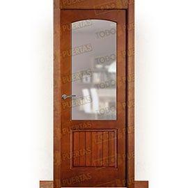 Puertas Rústicas de Interior:  Puerta Block Maciza Mod. Aguadulce ZV1