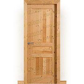 Puertas Rústicas de Interior:  Puerta Block Maciza Mod. Alicante