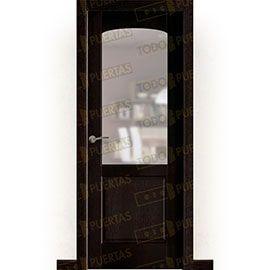 Puertas Rústicas de Interior:  Puerta Block Maciza Mod. Almonte nogal oscuro ZV1