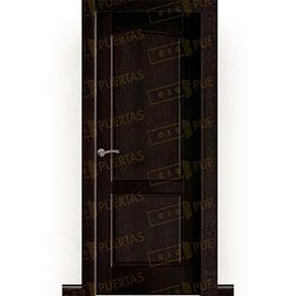Puertas Rústicas de Interior:  Puerta Block Maciza Mod. Almonte nogal oscuro
