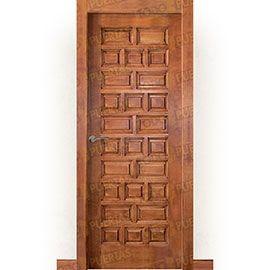 Puertas Baratas y Accesorios para puertas:  Puerta Block Maciza Mod. Castellana tinte