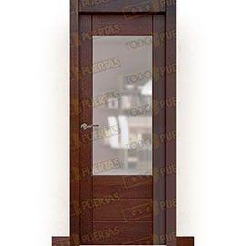 Puertas Baratas y Accesorios para puertas:  Puerta Block Maciza Mod. Cervantes Nogal ZV1