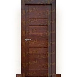 Puertas Rústicas de Interior:  Puerta Block Maciza Mod. Cervantes Nogal
