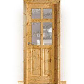 Puertas Rústicas de Interior:  Puerta Block Maciza Mod. Gamón V4