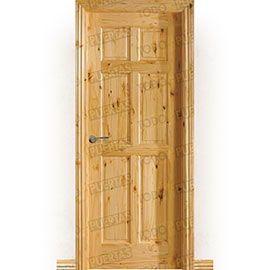 Puertas Rústicas de Interior:  Puerta Block Maciza Mod. Gamón