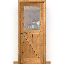 Puertas Rústicas de Interior:  Puerta Block Maciza Mod. GR001 Tenida V1Z